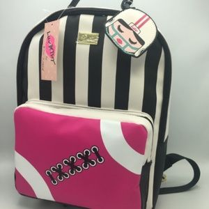 New!!! Betsy Johnson Stripped Back Pack
